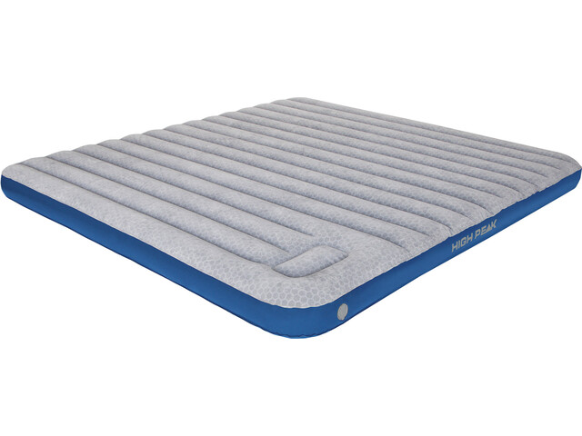 High Peak Cross Beam Air Bed Extra Long Light Grey/Blue